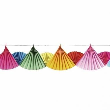 Regenboog slingers van waaiers 6 m