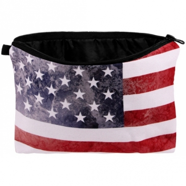 Reistasje met amerikaanse vlag print