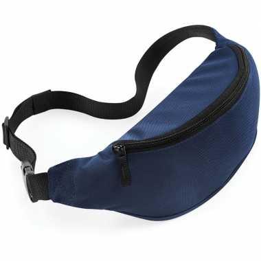 Reistasjes verstelbaar navy blauw 38 cm