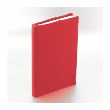 Rekbare schoolboeken hoes rood a5