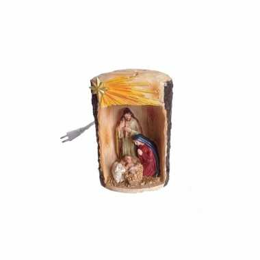 Religieus beeldje van jezus christus incl lampje 19 cm