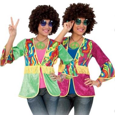 Retro hippie vestje met franje