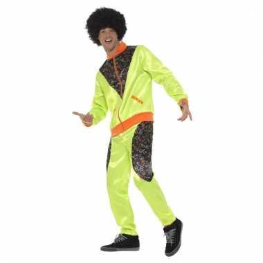 Retro trainingspak kostuum neon groen