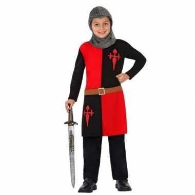 Ridder pak/verkleed kostuum rood voor jongens
