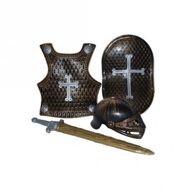 Ridder verkleed accessoires set brons 4-delig