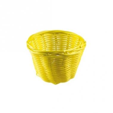 Rieten mandje geel 14 cm
