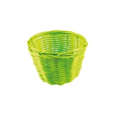 Rieten mandje groen 14 cm