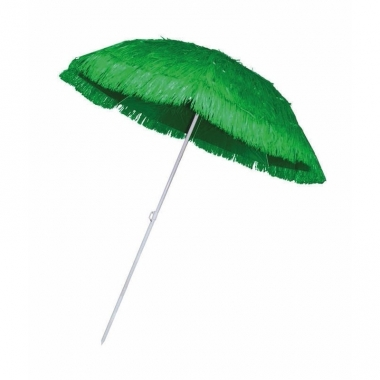 Rieten strand parasol groen