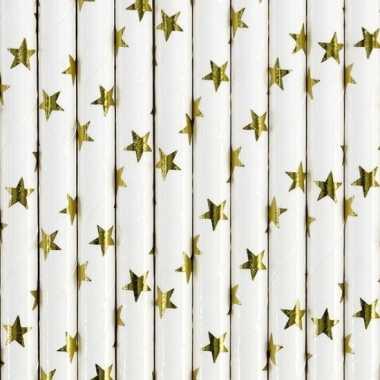 Rietjes met gouden sterren 30 stuks
