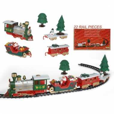 Rijdende kerst trein 22-delig