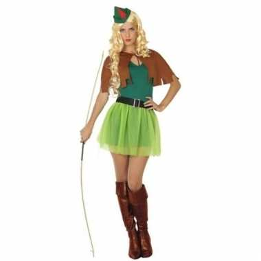 Robin hood outfit groen/bruin voor dames