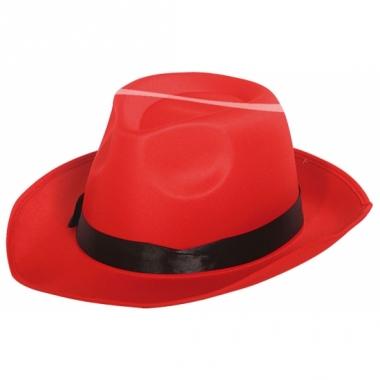 Rode al capone hoed volwassenen