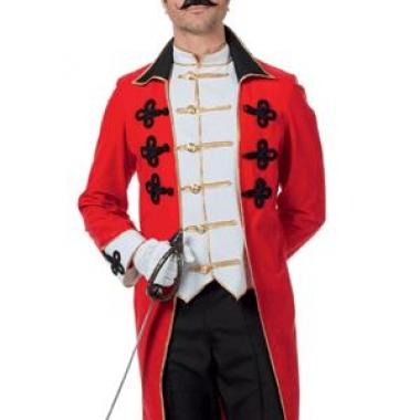 Rode circus directeur jas