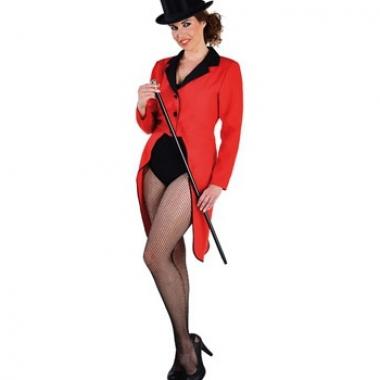 Rode circus jas voor dames