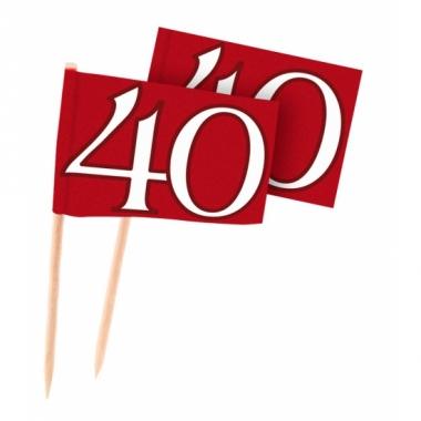 Rode cocktailprikkers 40