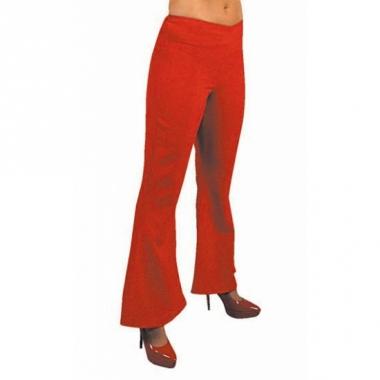 Rode disco dames broek