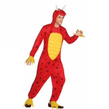 Rode draken pakken voor mannen