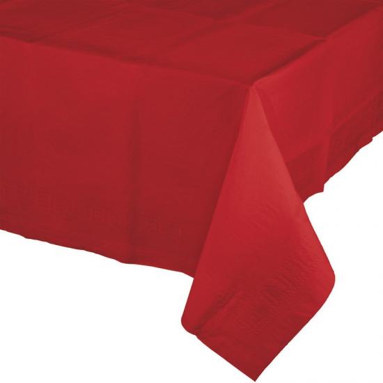 Rode feest tafellakens van plastic