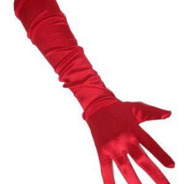 Rode gala handschoenen