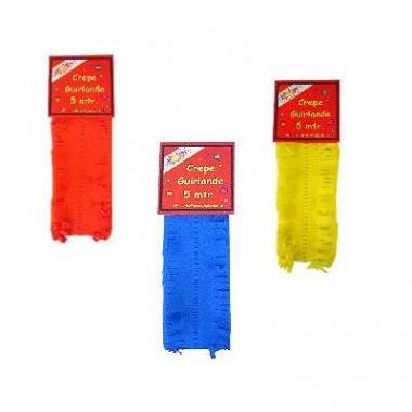 Rode gele blauwe crepe slingers