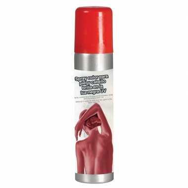 Rode glow in the dark haarspray