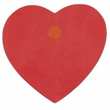 Rode hartjes slinger van 4meter