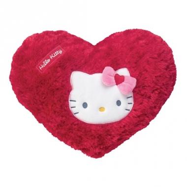Rode hello kitty kussens in hartvorm