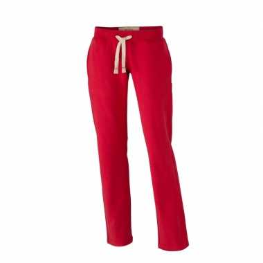 Rode joggingbroek met steekzakken voor dames
