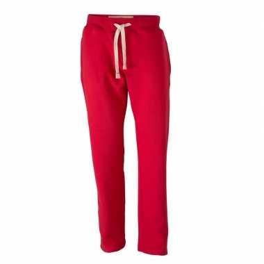 Rode joggingbroek met steekzakken voor heren