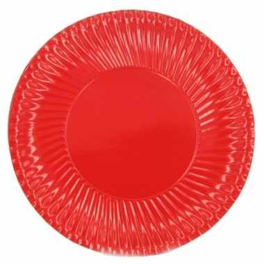 Rode kartonnen bordjes 23 cm