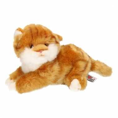 Rode kater kat knuffeltje 27 cm