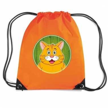 Rode katten / poes rugtas / gymtas oranje voor kinderen