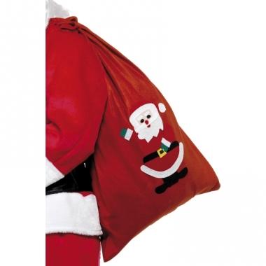 Rode kerst cadeau zak fleece
