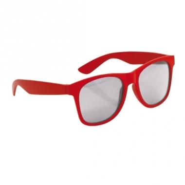 Rode kinder feest- en zonnebril wayfarer
