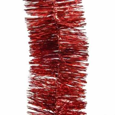 Rode lametta guirlande 270 cm