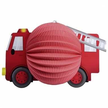 Rode lampion thema brandweer