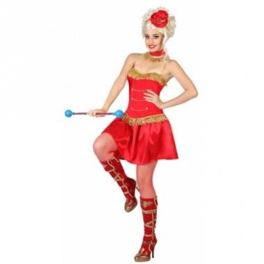 Rode majorette dames outfit