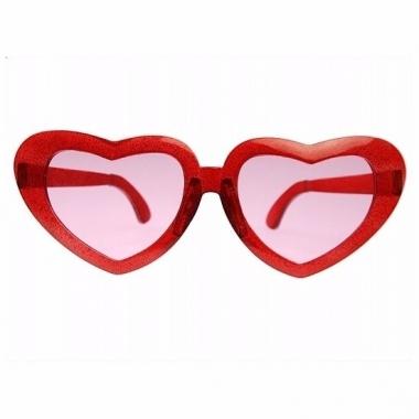Rode mega hartjesbrillen