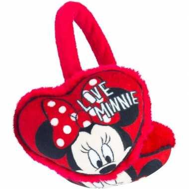 Rode minnie mouse oorwarmers voor meisjes