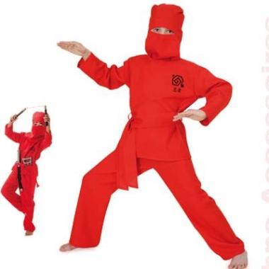 Rode ninja pakken voor kinderen