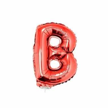 Rode opblaas letter b folie balloon 41 cm