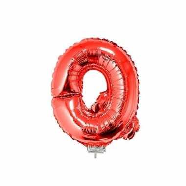 Rode opblaas letter q folie balloon 41 cm