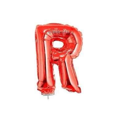 Rode opblaas letter r folie balloon 41 cm
