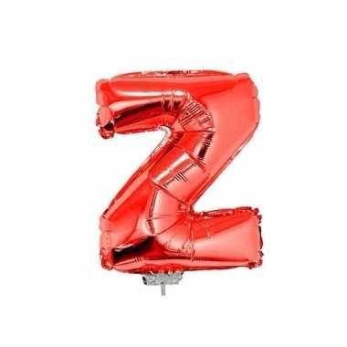 Rode opblaas letter z folie balloon 41 cm