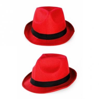 Rode party hoedjes
