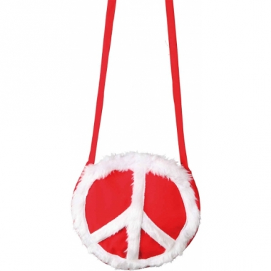 Rode peace tas rond
