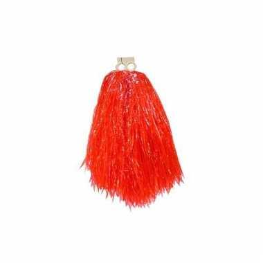 Rode pompom voor kinderen 23 cm