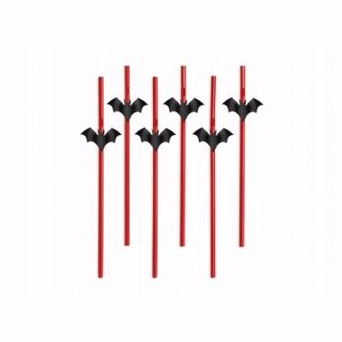Rode rietjes met vleermuizen 6 stuks