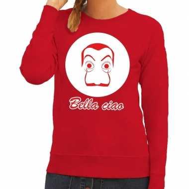 Rode salvador dali sweater voor dames