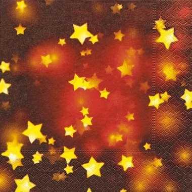 Rode servetten met gouden sterretjes